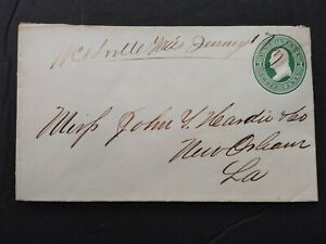 Mississippi: Westville 1873 3c Postal Entire Cover DPO Simpson Co to New Orleans