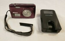 Nikon COOLPIX S4300 16.0MP Digital Camera - Plum w/Battery Charger