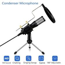 Upgrade Professional USB Condenser Microphone for PC Studio Microphone Phone Mic