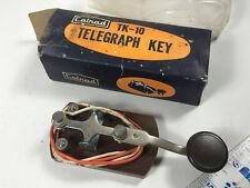 Vintage Calrad TK-10 Telegraph Key japan morse code NOS w/ box