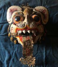 Ancien masque en bois tigre coloré chine?