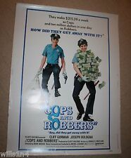 Cops & Robbers rolled Original movie Poster 1973 Cliff Gorman Comedy