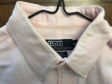 RALPH LAUREN BLAKE PINK TEXTURED COTTON DRESS SHIRT EXC. COND SZ 16.5