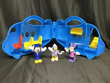 New listing Toddler Mickey Mouse Airplane Toy- Three figures- Mickey-Minnie- Daisy pre-owned