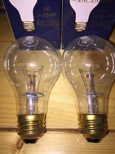 20,000 Hour 75 Watt Incandescent Light Bulb A19 Clear 20 Year Long Life Bulbs 2