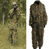 3D Leafy Tactical Camo Camouflage Camping Clothing Ghillie Suit Woodland Jungle