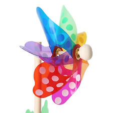 Windmill 7 Leaves Colorful Outdoors Spinner Children Toys Garden Decoration