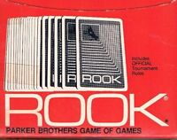 Vintage Rook w Official Tournament Rules Parker Bros Game of Games 1972 Red Box