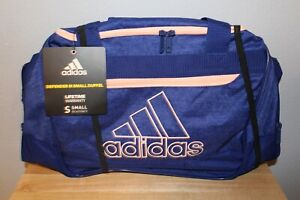 NWT Adidas Defender III Small Duffle Blue/Pink Perfect for Gym