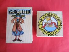 Mary Engelbreit Rubber Stamps Snap Out Of It 589H & Queen Of The Kitchen 857F