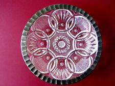 Kristallglas Silbermontur Schliff Pralinenschale Kristall Schale Teller Sammler