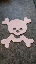 Felt die cut white skull applique toppers craft sewing