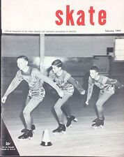Vintage Feb 1964 SKATE Magazine Skating Rink Operaters Coke Ad Owl Jump Article