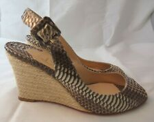 CHRISTIAN LOUBOUTIN 37 Puglia Python Snakeskin Wedge Espadrille Sandal $795