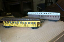 """Two Triang oo scale passenger carriages- LNER and 'Davy Crokett"""""""