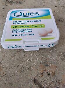 Quies Boules - Wax Earplugs - Long lasting comfort & protection  pack of 8 pair