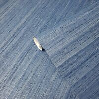 Modern Wallpaper Rustic Blue faux grasscloth lines textured wallcoverings rolls