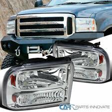Ford 05-07 F250 F350 F450 F550 SuperDuty 05 Excursion Clear Headlights Headlamps