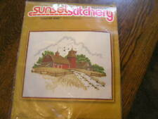 Vintage 1977 Sunset Designs Country Barn 2481 Embroidery Kit
