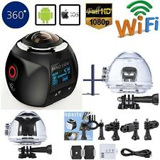 360 Degree Panoramic Camera Ultra 4K HD Wifi Video Sports Action Cam+Free 32GB
