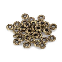 100x Tibetan Alloy Donut Metal Beads Carved Antique Bronze Flat Disc Spacers 8mm
