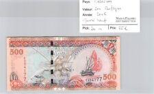 BILLET MALDIVES - 500 RUFIYAS 2006 - QUASI NEUF :!!!