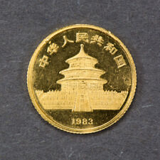 1983 CHINA 10 YUAN 1/10 oz  GOLD PANDA COIN LOT#L606