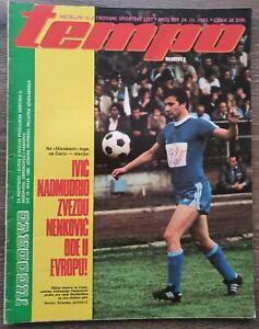 Magazine TEMPO 839 football Radnicki Nis vs Dundee united report Yugoslavia 1982