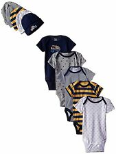 Gerber Baby-Boys 10-Piece Newborn Sports Onesies and Cap Bundle Gift Set