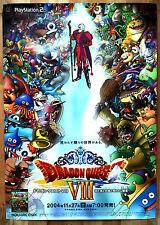 Dragon Quest VIII Raro PS2 51.5 cm X 73 Cartel Promo Japonés