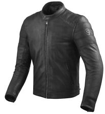 GIACCA JACKET MOTO REV'IT REVIT STEWART PELLE LEATHER NERO BLACK  TG 50