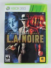 L.A. Noire video game MICROSOFT Xbox 360 CIB Complete 2011 Rockstar TESTED games