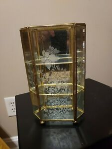 Vintage Display Case -Small Brass & Glass for Miniatures