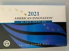 USA: American Innovation 1 Dollar Coin Proof Set 2021, Mint S, 4 Dollar