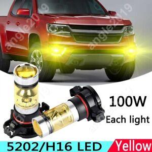For Chevrolet Colorado 2015-2018 Yellow 5202 LED Fog Light DRL Upgrade Bulb 2x