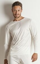 Sulis men's pure 100% silk ribbed jersey long sleeved T shirt made in England XL