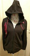 Womens Black & Pink Adidas Zip Hoodie - Size M - Used - Good Condition - Retro