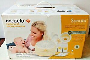 Medela Sonata Double Electric Breast Milk Pump Smart Tracking Quiet Sealed