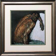 "Paul Cezanne ""The Scipio Man "" 1869 Custom Framed Art Print  African Black Back"