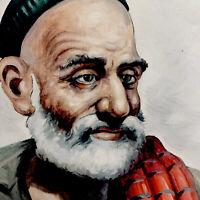 Painting Oil Alejke Gurgin Armenian/Iran Artist Portrait Of Man Oil Picture 1965