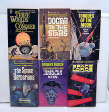 1960s Lot of 6 Pyramid Sci-Fi Paperback Book-Block/Farmer/Anderson etc (101887)