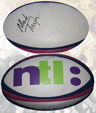SWANSEA RFC SIGNED MATCH  RUGBY BALL by MARK TAYLOR GENUINE AUTOGRAPH WITH COA