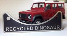 Land Rover Defender Etched Diesel Recycled Dinosaur Fuel Filler Warning Badge