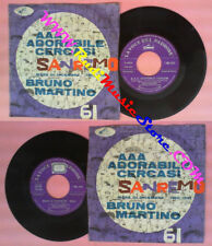 LP 45 7'' BRUNO MARTINO Aaa adorabile cercasi Mare di dicembre 1961 no cd mc vhs