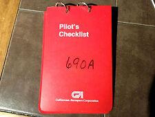 Turbo Commander 690A Pilot's Condensed Check List