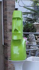 Moai Figur Kopf Rapa Nui Tiki Moderne Kunst Deko Büste Osterinsel Grün Hochglanz