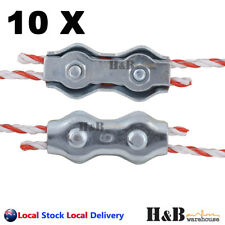10 Electric Fence Poly Wire Joiner PolyWire Rope Braid Connector Fencing Joiners