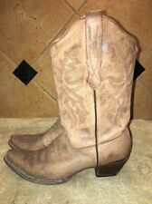 Ladies Corral Brown Leather Cowboy Western Boots Size 9 1/2 M
