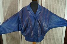 """CONVOY Leather Biker Jacket Vintage 1980s 50"""" Chest XL 38"""" Waist Unisex Pristine"""