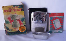 Vintage Mikado Peacock Pocket Warmer UNLIT Box Bag Instructions Filler JAPAN